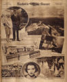 Photomontage of an art museum, a view from Lookout Mountain, a child athlete, a celebrity couple, a set of triplets, a...